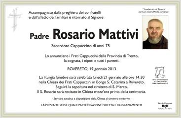 Mattivi Padre Rosario