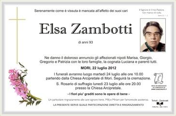 Zambotti Italina Elsa