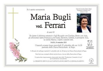 Bugli Maria ved. Ferrari