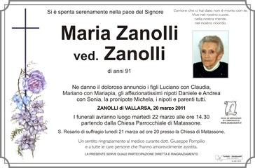 Zanolli Maria ved. Zanolli