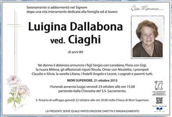 Dallabona Luigina ved. Ciaghi