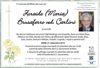 Brusaferro Zoraide ved. Carlini