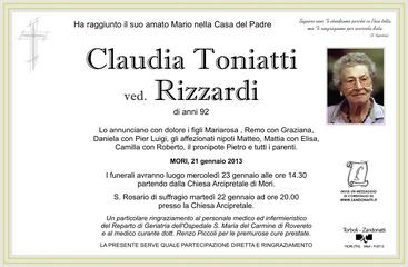 Toniatti Claudia ved. Rizzardi