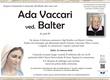 Vaccari Ada ved. Balter