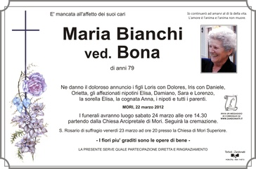 Bianchi Maria ved. Bona
