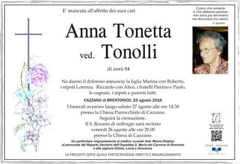 Tonetta Anna ved. Tonolli
