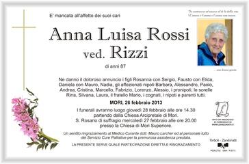 Rossi Anna ved. Rizzi