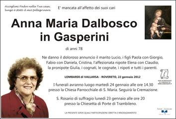Dalbosco Anna Maria in Gasperini