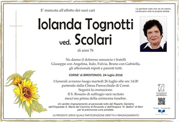 Tognotti Iolanda ved. Scolari