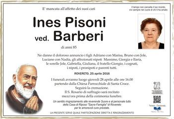 Pisoni Ines ved. Barberi