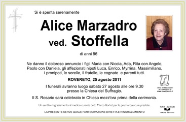 Marzadro Alice ved. Stoffella