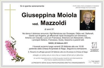 Moiola Giuseppina ved. Mazzoldi