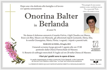 Balter Onorina in Berlanda