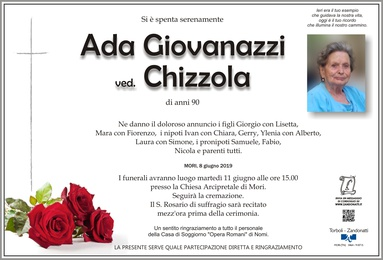 Giovanazzi Ada ved. Chizzola