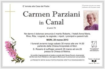 Parziani Carmen in Canal