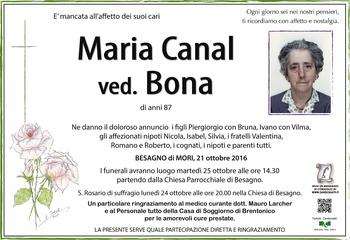 Canal Maria ved. Bona