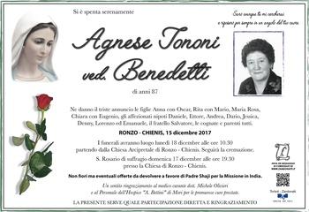 Tononi Agnese ved. Benedetti