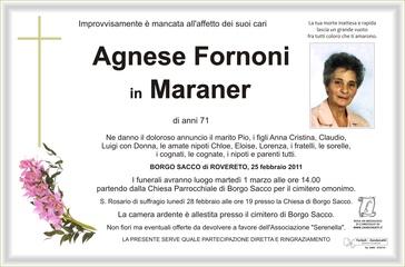 Fornoni Agnese in Maraner