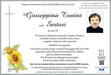 Tonini Giuseppina ved. Sartori