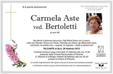 Aste Carmela ved. Bertoletti