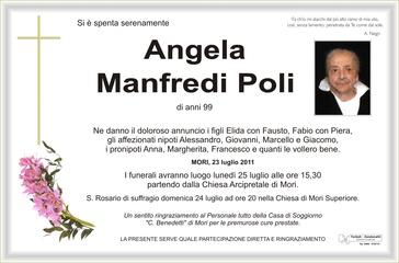 Manfredi Angela ved. Poli