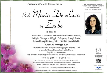 De Luca Maria in Zarbo