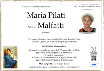 Pilati Maria ved. Malfatti
