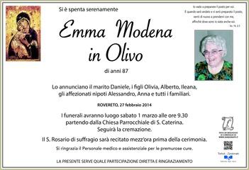 Modena Emma in Olivo