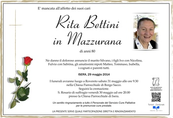 Bettini Rita in Mazzurana