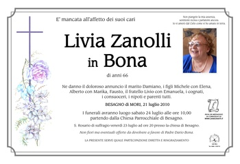 Zanolli Livia in Bona