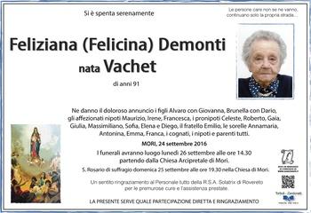 Vachet Feliziana ved. Demonti