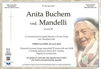 Buchem Anita ved. Mandelli