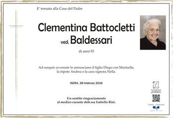 Battocletti Clementina ved. Baldessari