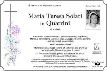 Solari Maria Teresa in Quatrini