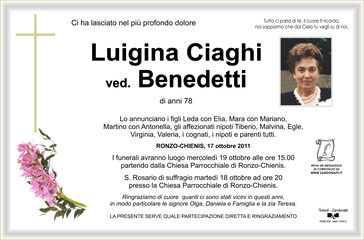 Ciaghi Luigina ved. Benedetti