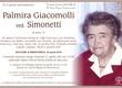 Giacomolli Palmira ved. Simonetti