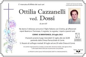 Cazzanelli Ottilia ved. Dossi