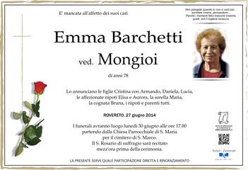 Barchetti Emma ved. Mongioi
