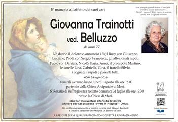 Trainotti Giovanna ved. Belluzzo