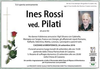 Rossi Ines ved. Pilati
