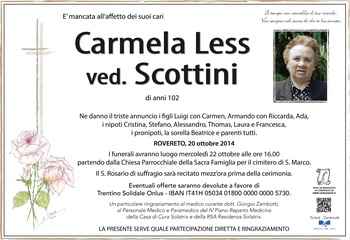 Less Carmela ved. Scottini