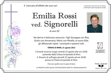 Rossi Emilia ved. Signorelli