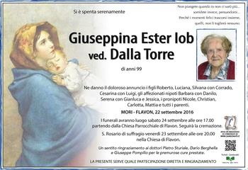 Iob Giuseppina Ester ved. Dalla Torre