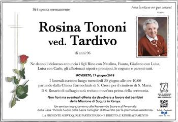 Tononi Rosina ved. Tardivo