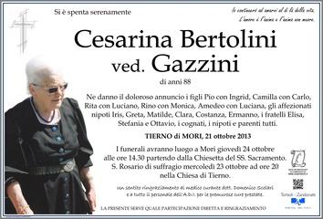 Bertolini Cesarina ved. Gazzini