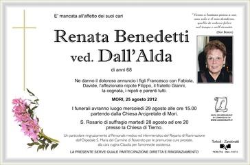 Benedetti Renata ved. Dall'Alda