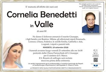 Benedetti Cornelia in Valle