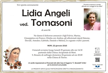 Angeli Lidia ved. Tomasoni