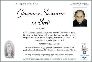 Semenzin Giovanna in Berti