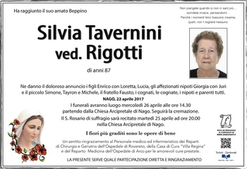 Tavernini Silvia ved. Rigotti